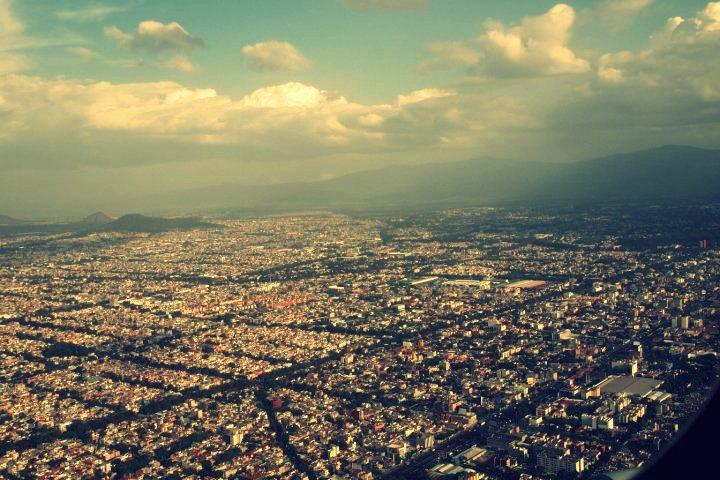 Einflug über Mexiko-City