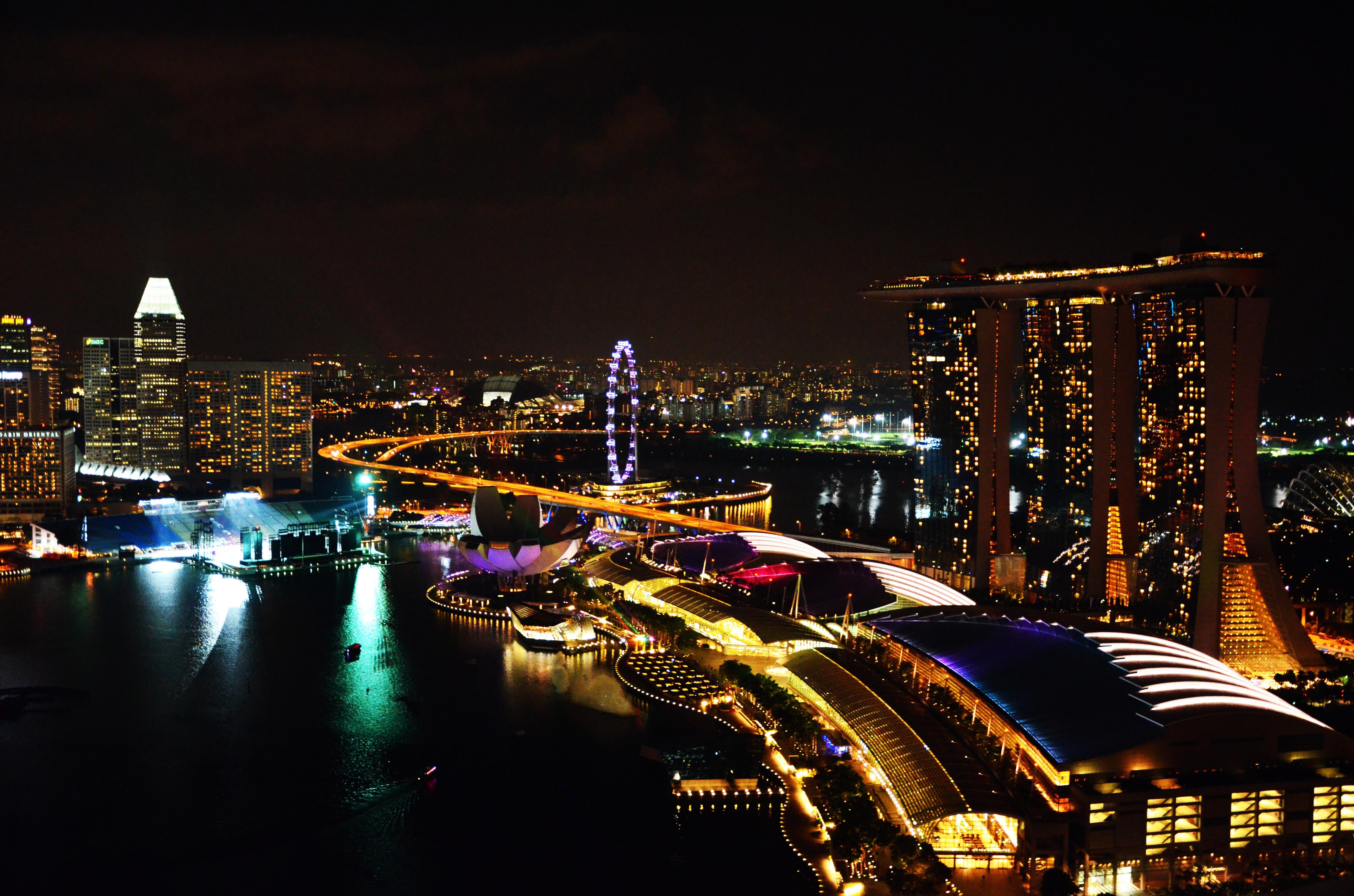 Überwältigende Kulisse an der Marina Bay