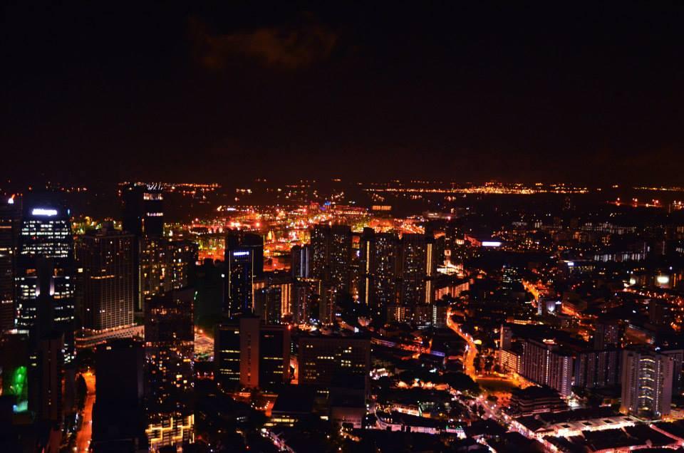 Blick auf Singapur vom 1 Altitude aus