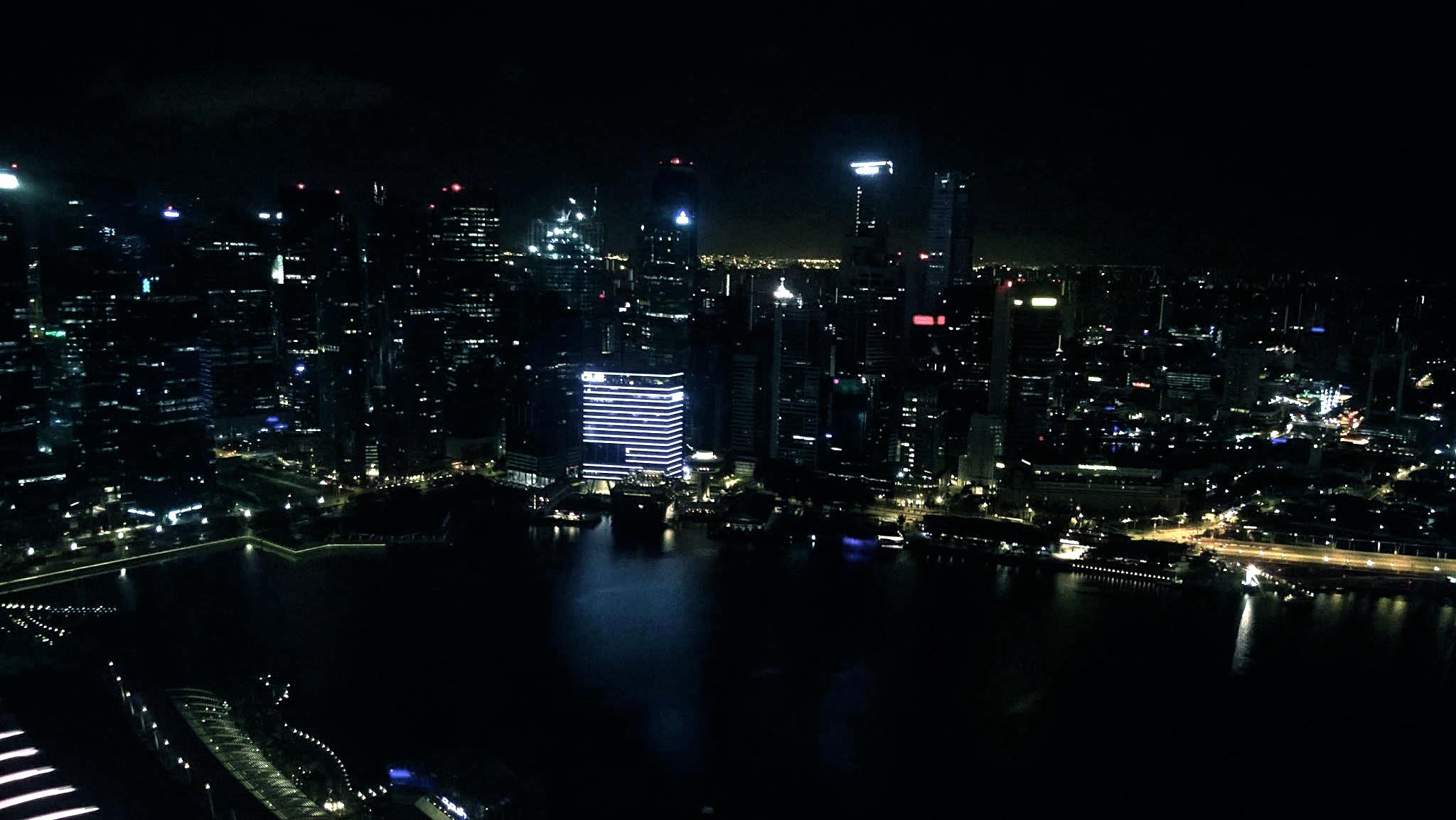 Blick auf die faszinierende Skyline Singapurs
